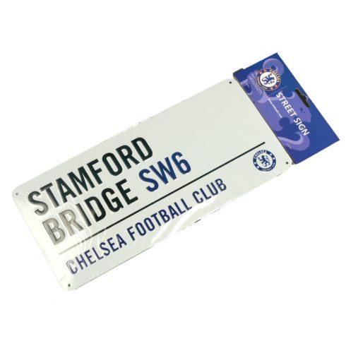 Chelsea fém utcatábla nagy Stamford Bridge