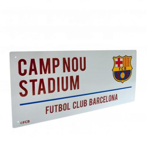 FC Barcelona fém utcatábla nagy Camp Nou