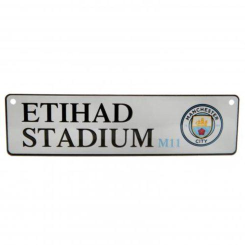 Manchester City fém utcatábla kicsi