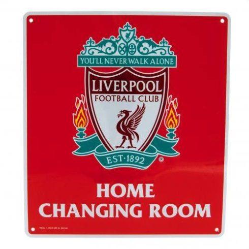 Liverpool fémtábla öltöző szoba
