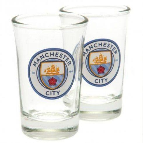 Manchester City üveg feles pohár 2db-os