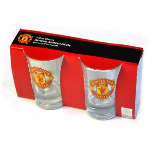 Manchester United üveg feles pohár 2db-os