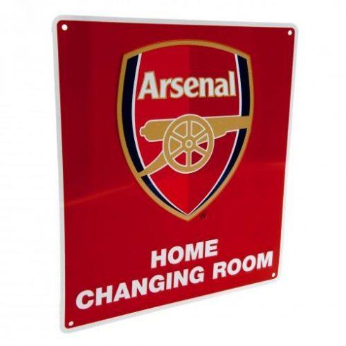 Arsenal fémtábla öltöző szoba