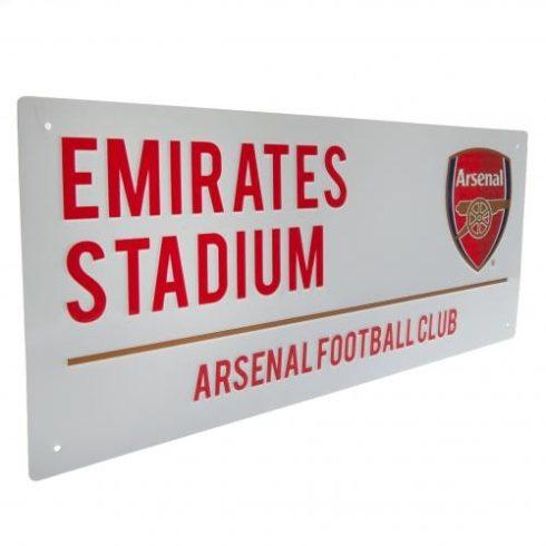 Arsenal fém utcatábla Emirates Stadium