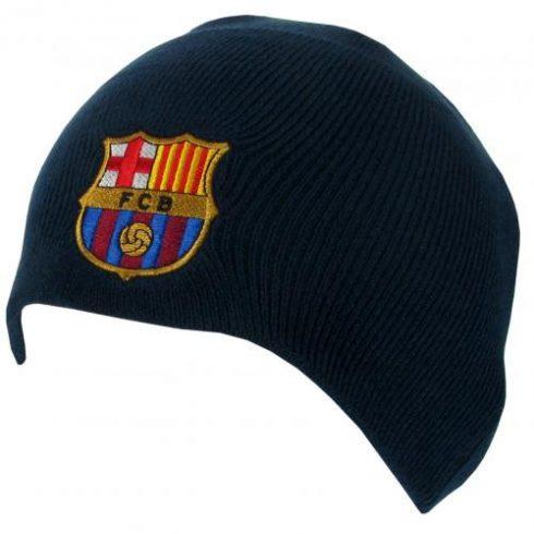 FC Barcelona kötött sapka sötétkék címeres Crest