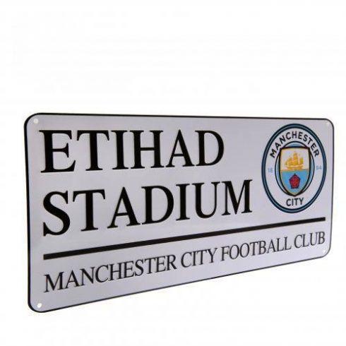 Manchester City fém utcatábla nagy New Etihad