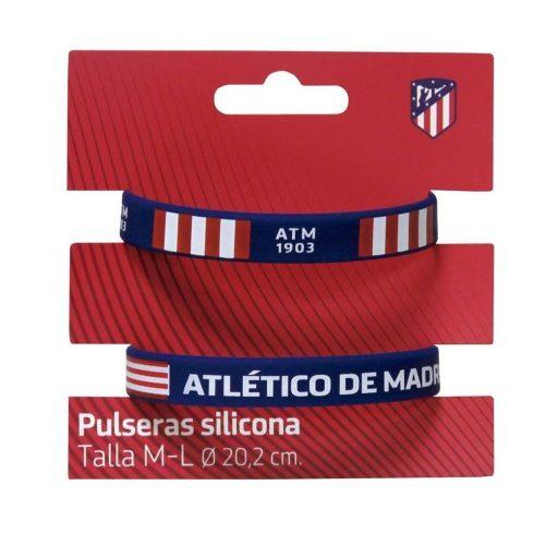 Atletico Madrid szilikon karkötő 2db-os