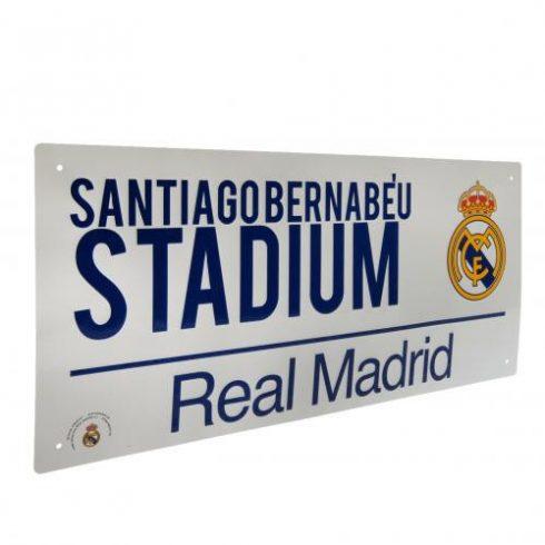 Real Madrid fém utca tábla Santiago Bernabéu Stadium