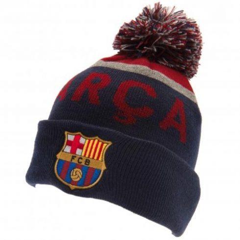 FC Barcelona kötött téli sí sapka pompomos Navy