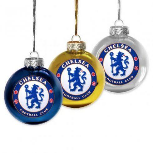 Chelsea 3db-os karácsonyfa dísz gömb Crest