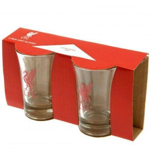Liverpool üveg feles pohár 2db-os címeres