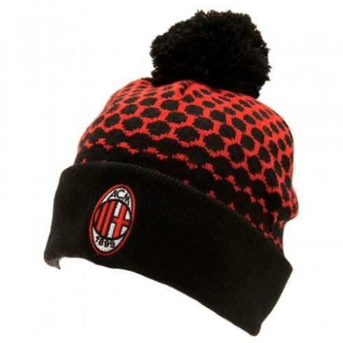 AC Milan kötött téli sapka pompomos Fade