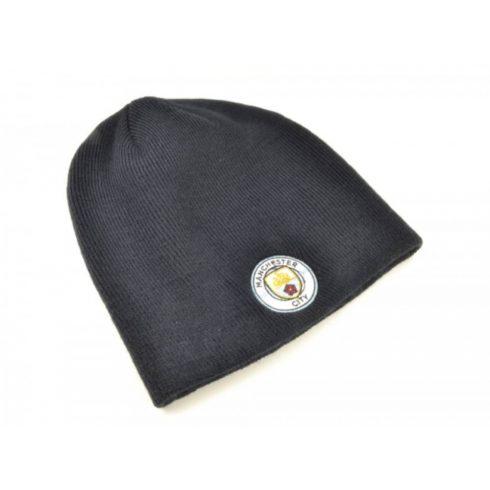 Manchester City kötött sapka címeres Navy