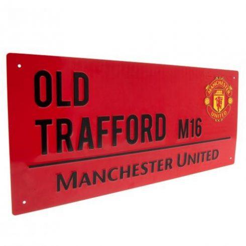Manchester United fém utcatábla Old Trafford Red