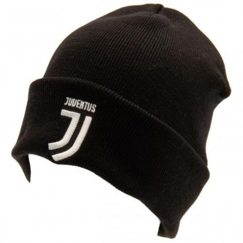 Juventus kötött téli sapka visszahajtható Crest