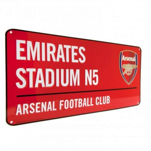 Arsenal fém utca tábla Emirates Stadium Red