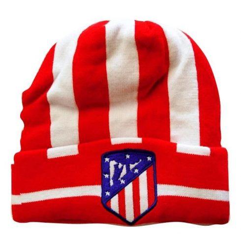 Atletico Madrid kötött téli sapka Rojo Stripe
