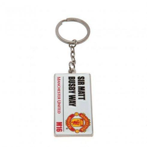 Manchester United fém kulcstartó Matt Busby Way