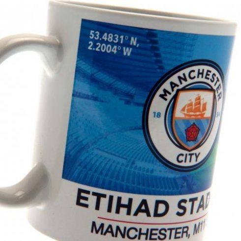 Manchester City kerámia bögre Etihad Stadium