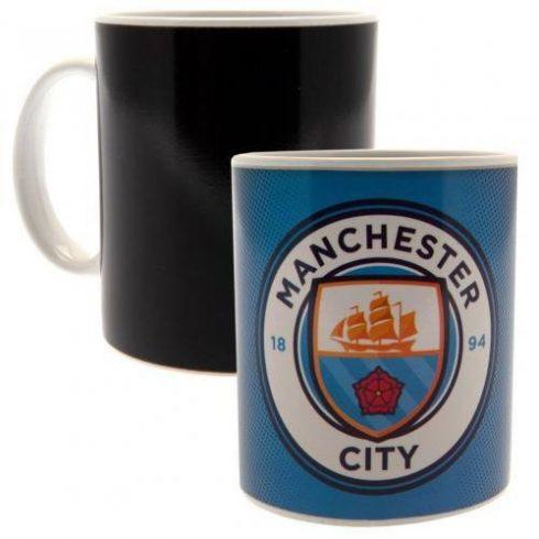 Manchester City bögre kerámia hőváltós Sky Crest