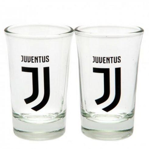 Juventus üveg feles pohár 2db-os Crest