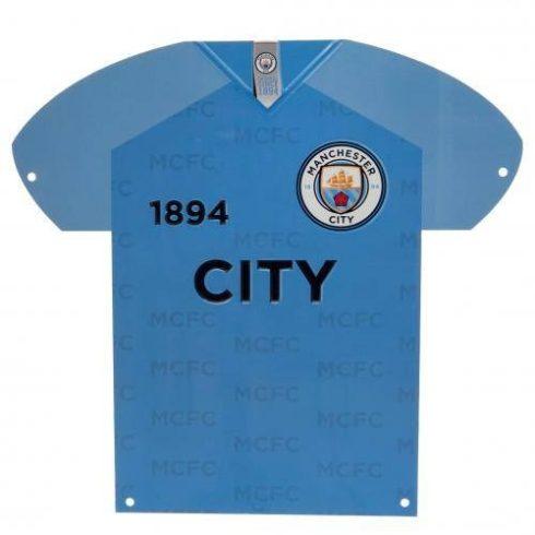 Manchester City FC mez alakú fém tábla