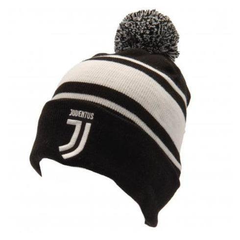Juventus kötött téli sapka Pompomos Stripe