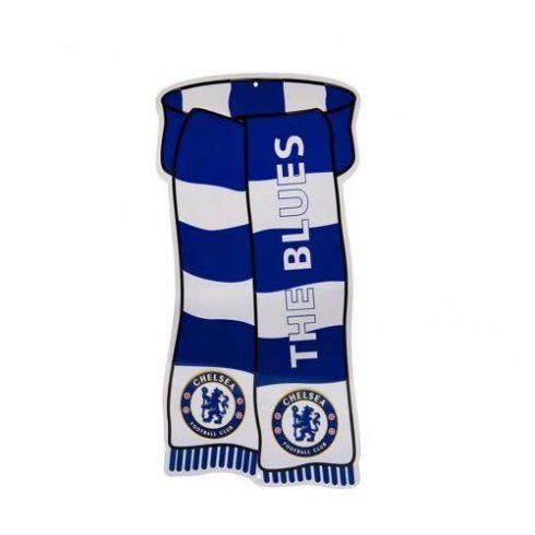 """Chelsea FC sál alakú fém tábla """"The Blues"""""""