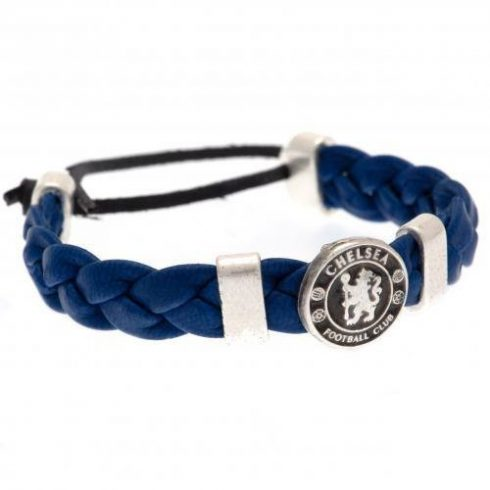 Chelsea FC címeres fonott karkötő