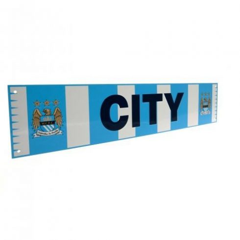 Manchester City sál alakú fém tábla OldCrest