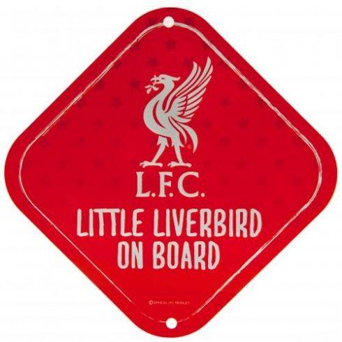 Liverpool FC autós baba a fedélzeten fém tábla kicsi