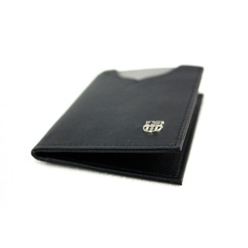 FC Barcelona fekete bőr irattárca pénztárca Leather