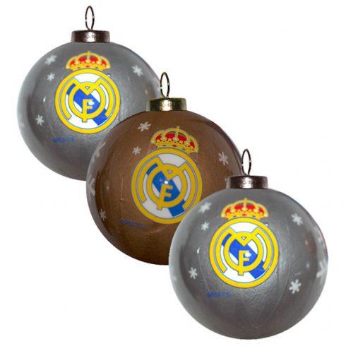 Real Madrid FC karácsonyfa dísz gömb 3 db-os Crest