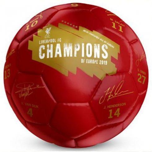 Liverpool FC aláírásos labda Limited Edt