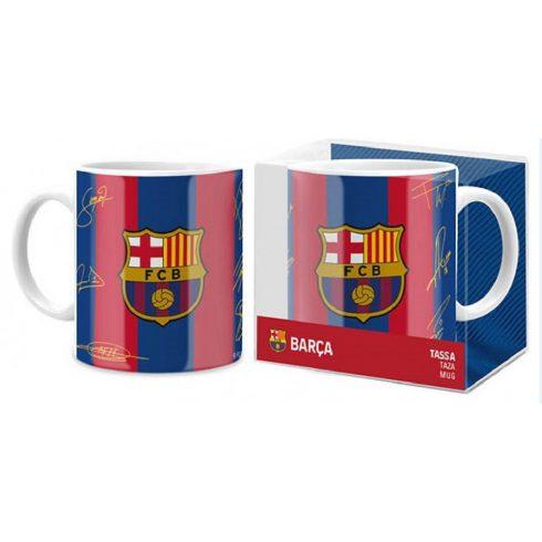 FC Barcelona aláírt kerámia bögre RayasSigns