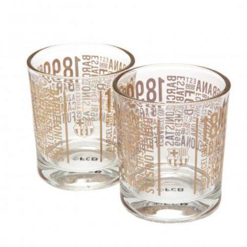 FC Barcelona whiskey-s üveg pohár szett 2db-os