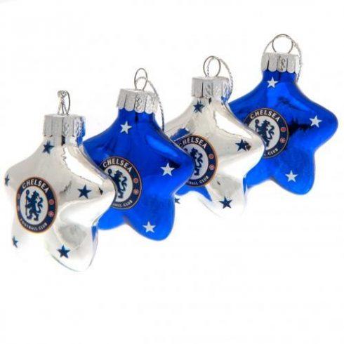 Chelsea 4db-os karácsonyfa dísz Star Crest