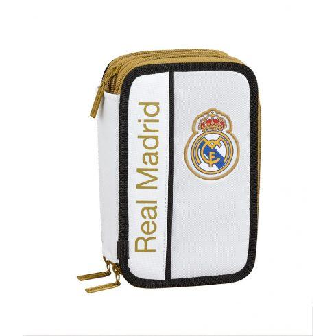 Real Madrid FC 3 szintes 41db-os töltött tolltartó Blanco
