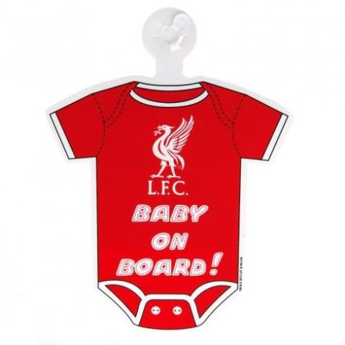 Liverpool FC baby on board autós mini body