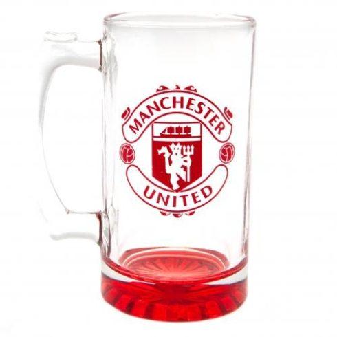 Manchester United FC füles sörös korsó Crest