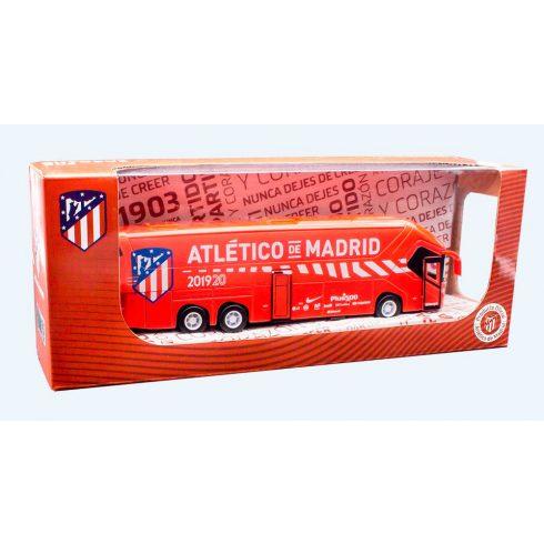 Atletico Madrid FC nagy masszív szurkolói autóbusz ATM