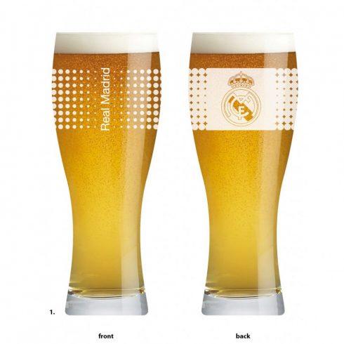 Real Madrid sörös pohár üveg FrostCrest