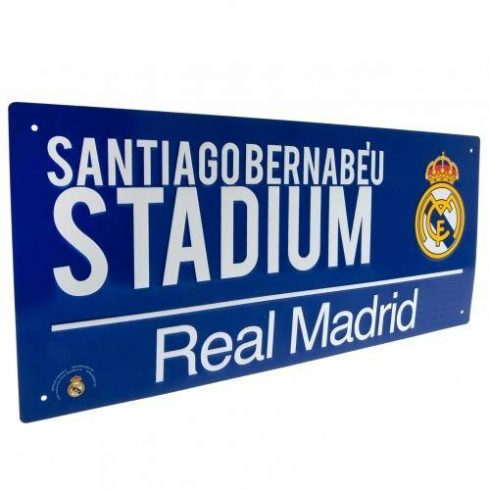 Real Madrid fém utca tábla Blue Santiago